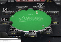 Americas Cardroom on tablet