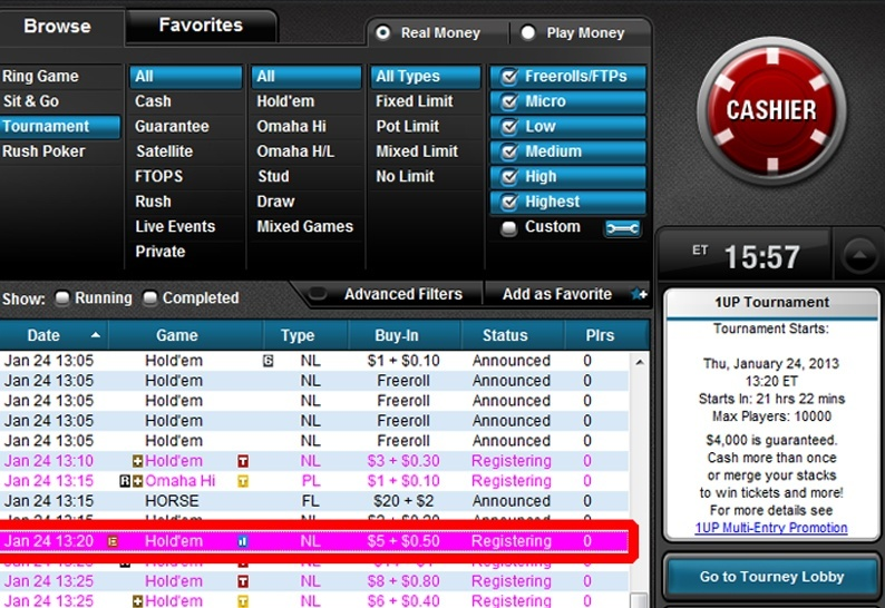 full tilt poker withdrawal